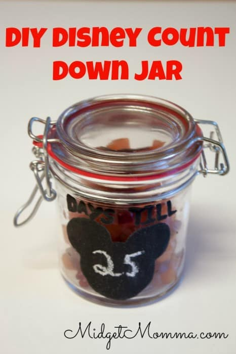 DIY Disney Count Down Jar