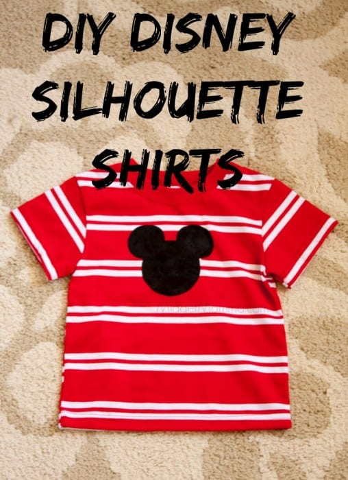 DIY Disney Silhouette Shirts