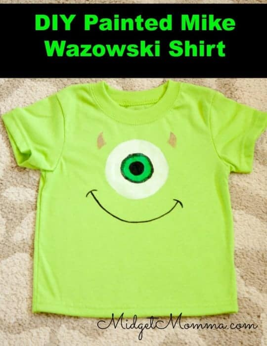 DIY Painted Mike Wazowski Shirt