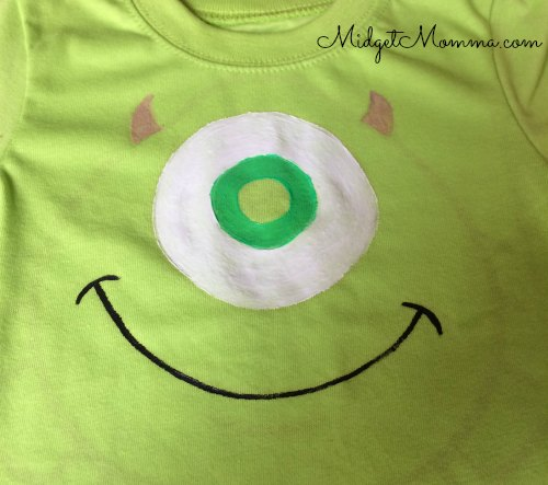 DIY Painted Mike Wazowski Shirt Directions