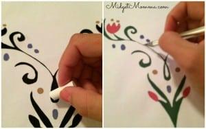 Disney frozen princess anna stencil for shirts