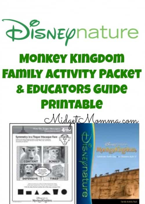 Monkey Kingdom Family Activity Packet & Educators Guide Printable