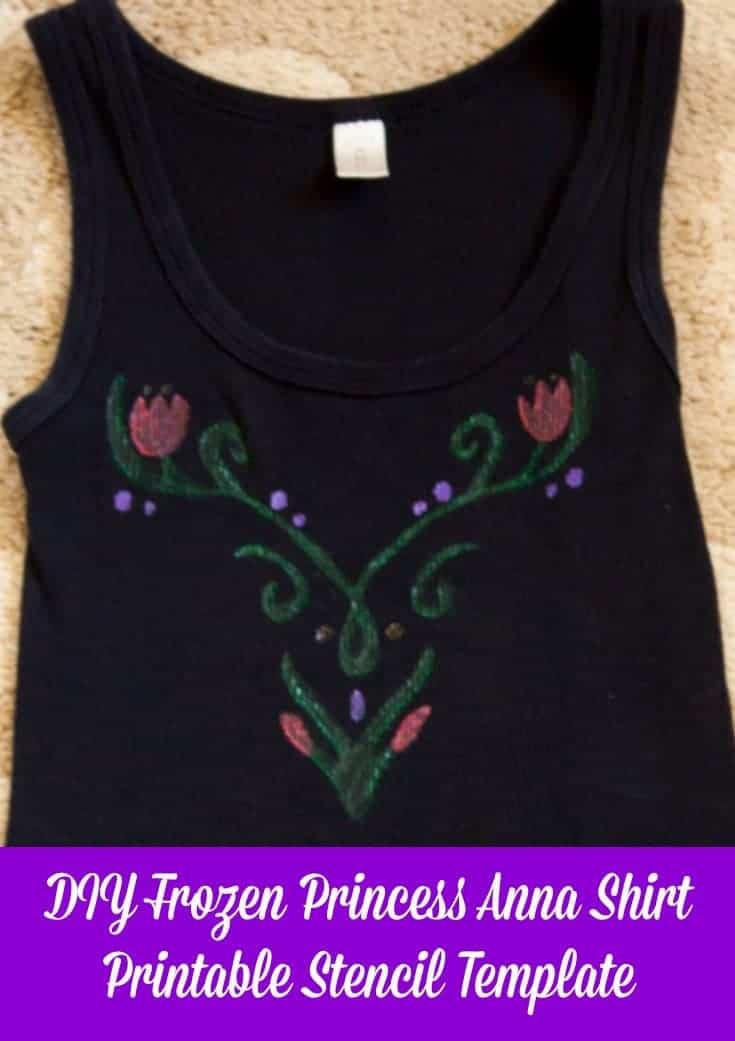 Frozen princess anna shirt for Diy disney shirt template