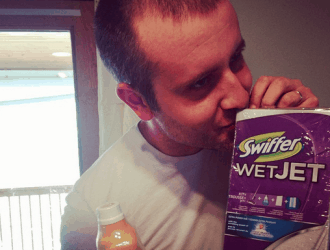 Cleaning Isn't just for the Moms! Dads clean too with help from Swiffer!