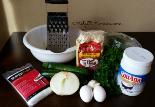 Zucchini fritter ingredients