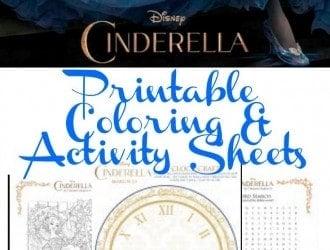 Cinderella Coloring & Activity Sheet Printables