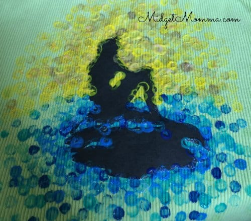 diy little mermaid stencil shirt