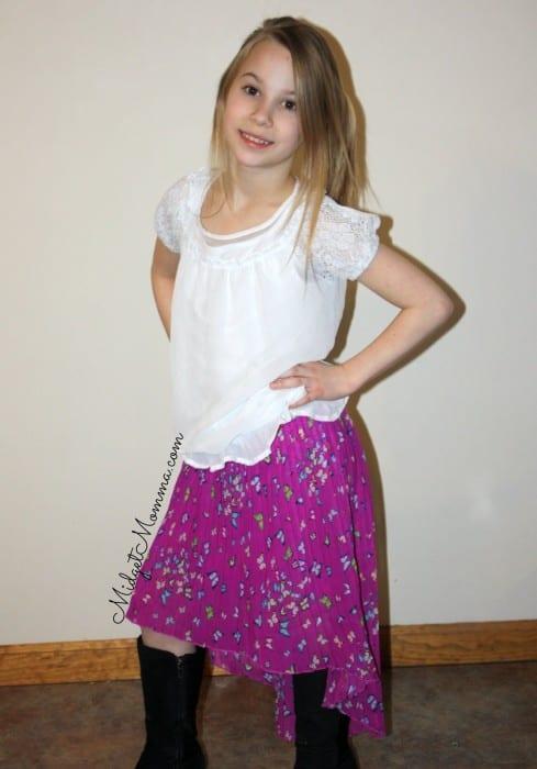 kohl's d-signed angle skirt