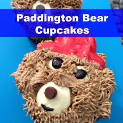 Paddington Bear Cupcakes, Paddington Bear, Bear Cupcakes, Brown Bear, Paddington, Fun Cupcakes, Kid Cupcakes, Easy Cupcakes