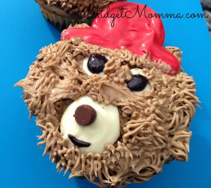 how to make paddington bear cupcakes
