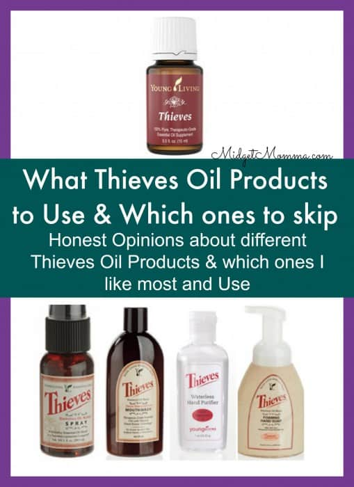 what thieves oil prodcuts to use