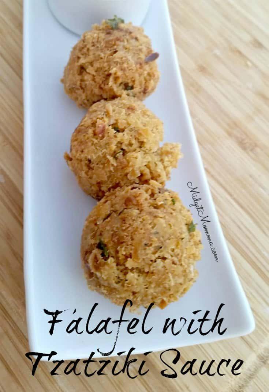 Falafel with Tzatziki Sauce Recipe