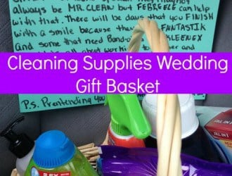 Creative Wedding Gift Basket | Cleaning Supplies Wedding Gift Basket
