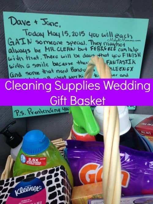 Cleaning Supplies Wedding Gift Basket
