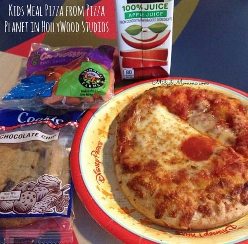 cheap eats at disney world kids meal at pizza planet in hollywood studios
