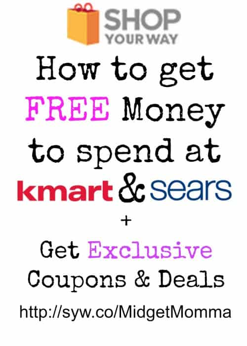 how to get free money to spend at kmart and sears