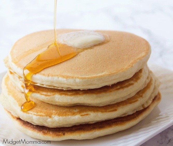 fluffy delicious homemade pancakes using homemade pancake mix