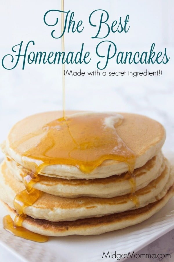 Homemade pancakes are the perfect breakfast. this homemade pancake mix recipe makes the most amazing pancakes ever!