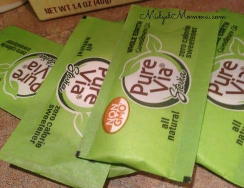 pure via all natural sweetener