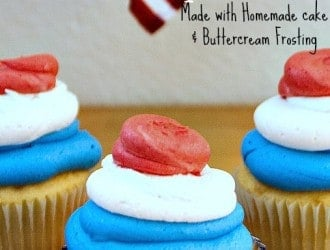 Homemade Cupcakes, Homemade Cupcakes 4th of July Swirl Cupcakes, how to make homemade cupcake, 4th of July cupcakes, 4th of july cupcake swirl