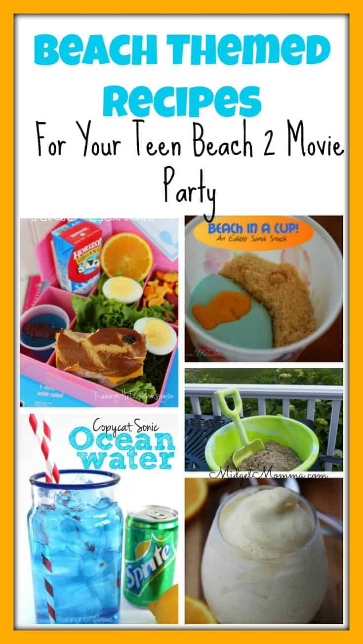 Beach Party Themed Recipes For