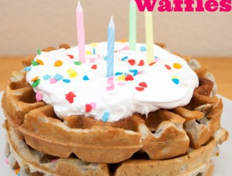 Birthday Cake Funfetti Waffles. Perfect birthday breakfast with these amazing Birthday Cake Funfetti Waffles. Everyone will love to have them for breakfast!