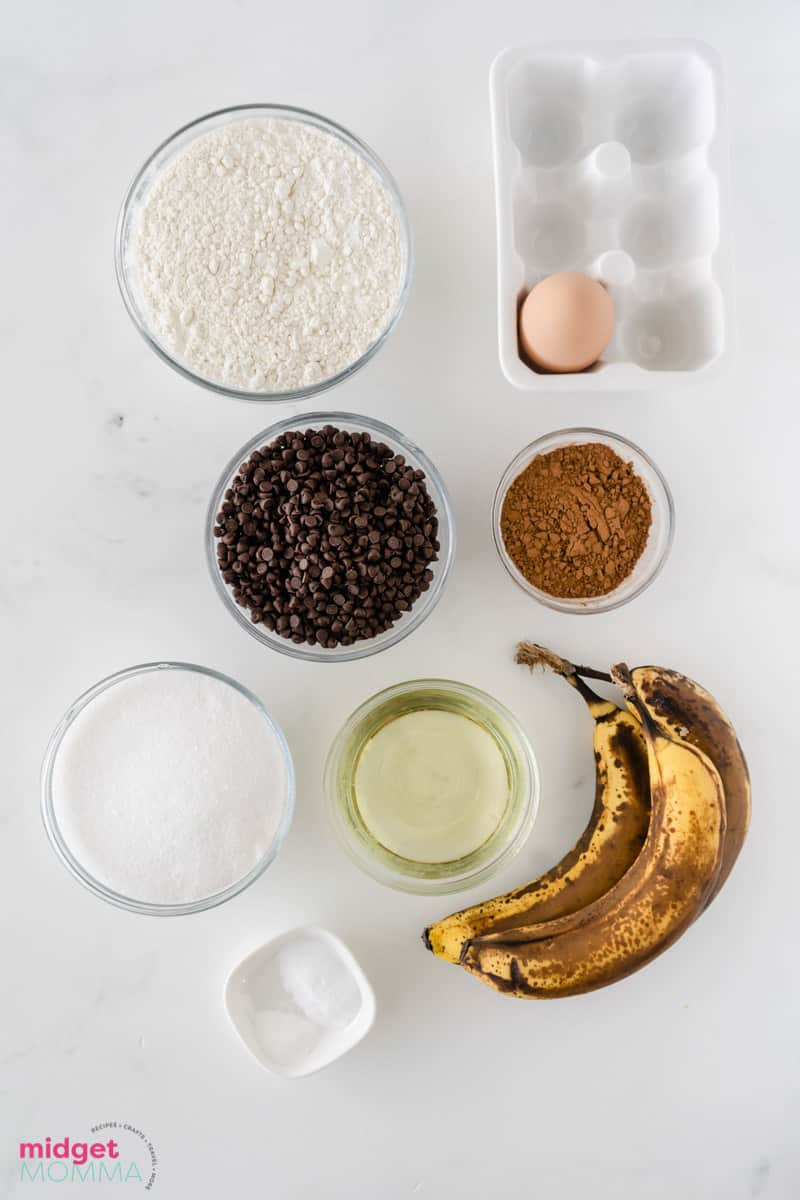 Double Chocolate Banana Muffins ingredients