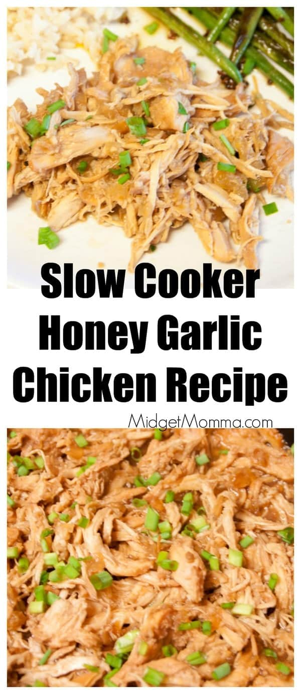 Slow Cooker Honey Garlic Chicken Recipe Midgetmomma