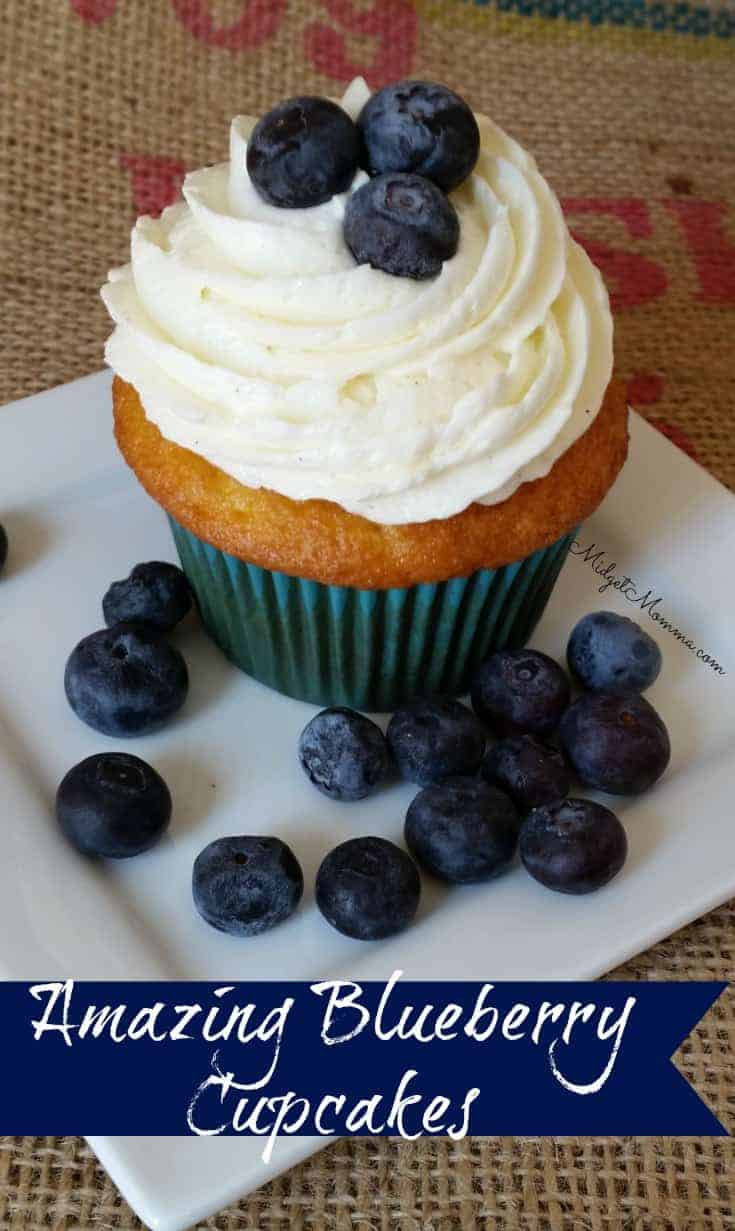 Homemade Blueberry Cupcakes Made With Fresh Blueberries
