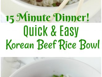 easy Korean Beef Rice, easy beef dinner, easy dinner, quick dinner, rice bowl