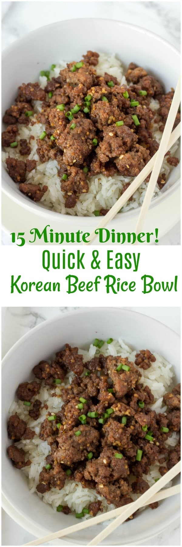 Quick And Easy Dinner Korean Beef Rice Bowl