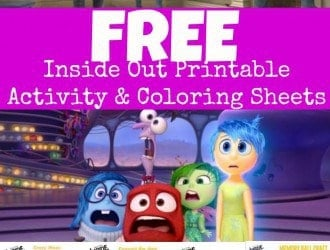 Inside Out Printable Activity Sheets