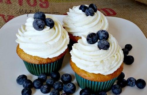 homemade blueberry cupcakes