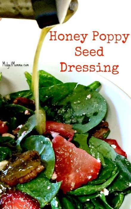 This Easy Honey Poppy Seed Salad Dressing Recipe is my favorite Poppy seed Salad dressing. Homemade and easy to make Honey Poppy Seed Salad Dressing.