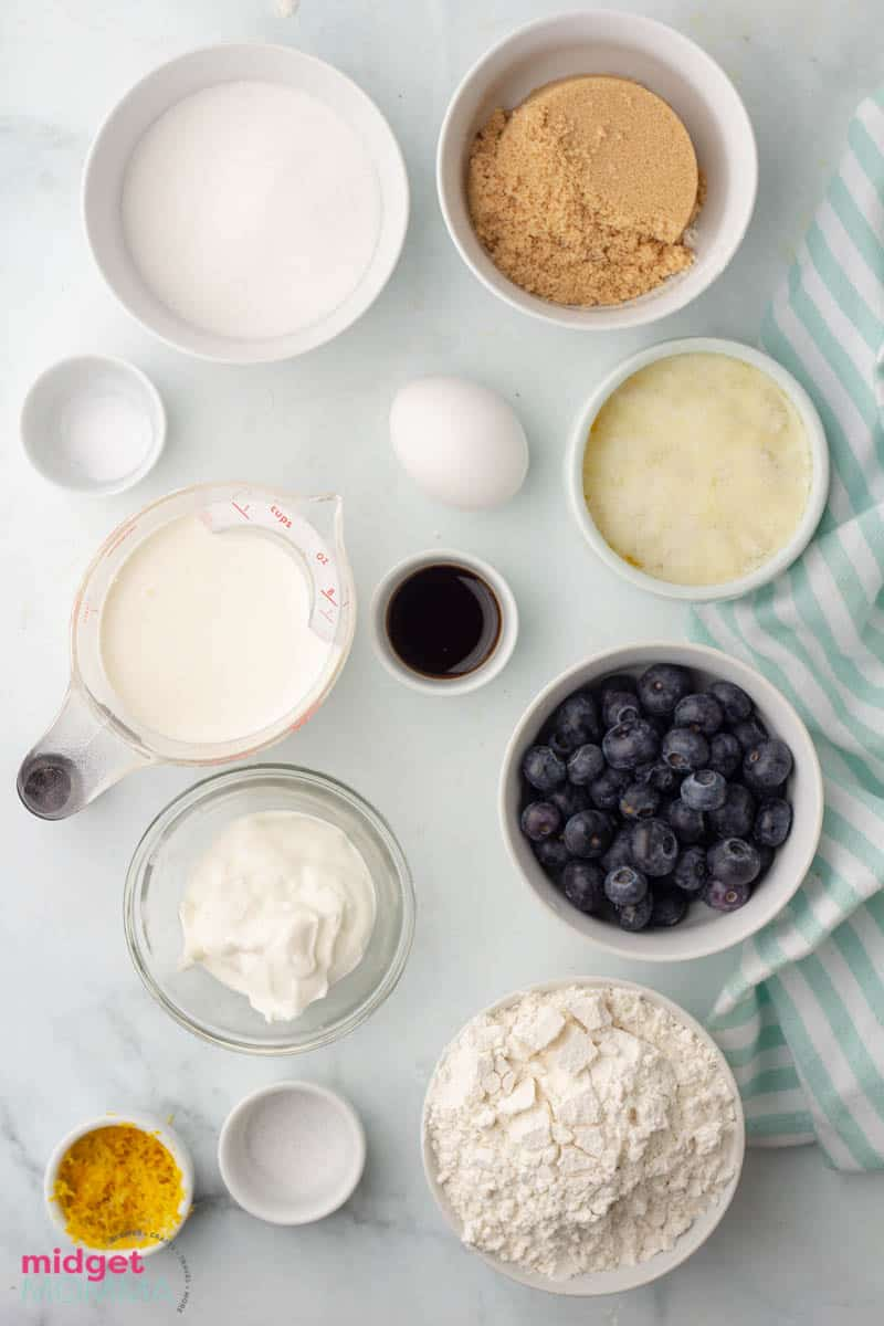 lemon Blueberry cupcakes ingredients