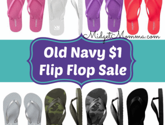 old navy $1 flip flop sale
