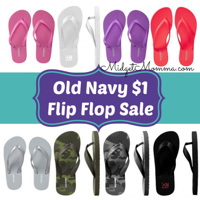 Old Navy $1 Flip Flop Sale 2015