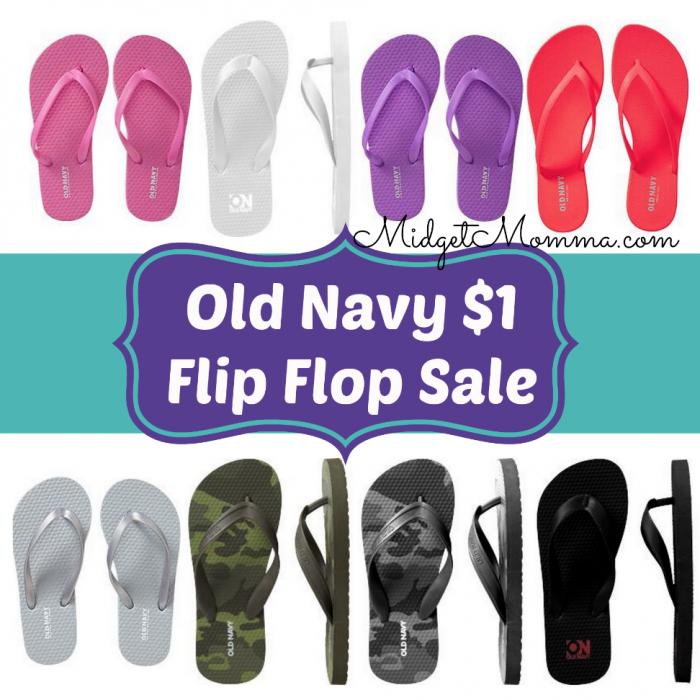 Old Navy $1 Flip Flop Sale 2015