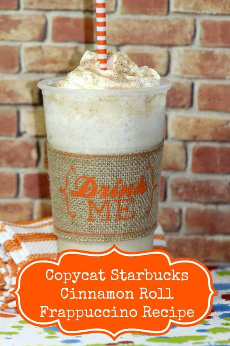 Copycat Starbucks Cinnamon Roll Frappuccino Recipe, Copycat Starbucks Cinnamon Roll Frappuccino, Starbucks Cinnamon Roll Frappuccino Recipe