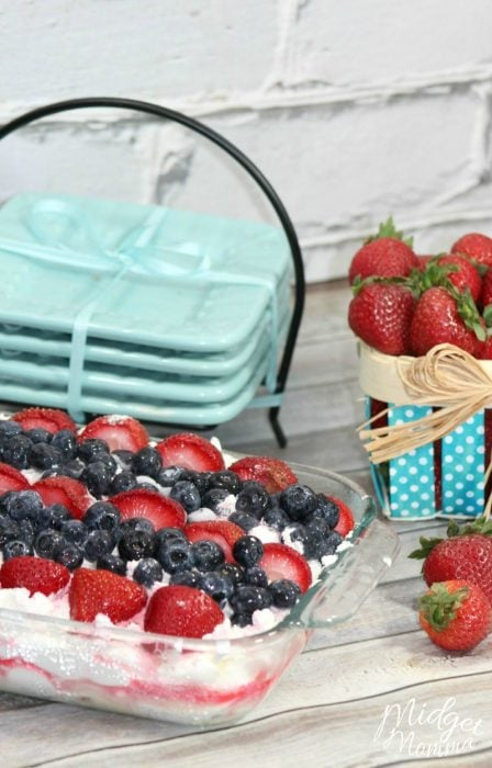 Fruit Lasagna Frozen Ice Box Cake