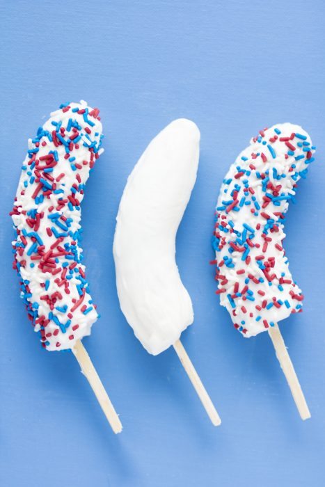 Red White and Blue Banana Pops