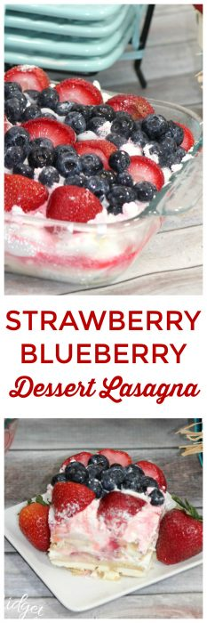 Strawberry Blueberry Dessert Lasagna