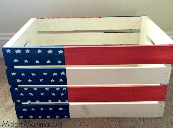 DIY Flag Crate
