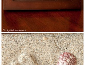 Kids Foot Prints In The Sand Keepsake Craft