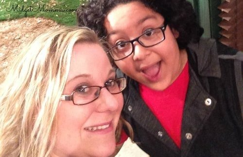 selfie on BUNKD set