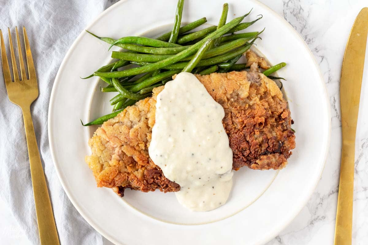 Crunchy chicken fried steak