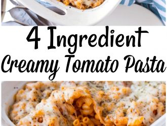 4 Ingredient Creamy Tomato Pasta
