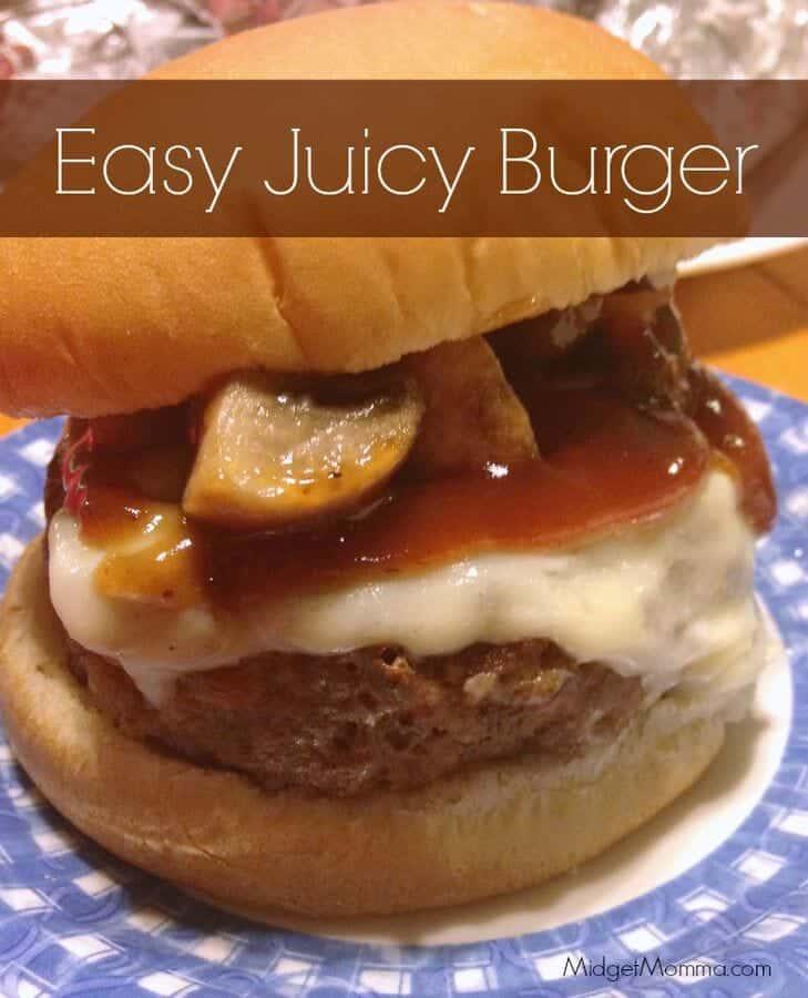 Easy Juicy Burgers Recipe, Juicy Burgers Recipe, Easy Juicy Burgers, 3 ingredient Juicy burger recipe. This easy juicy burger recipe has only 3 ingredients.