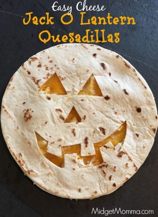 Jack O Lantern Quesadillas are super easy to make! Jack O Lantern Quesadillas take just a few minutes to make too! Kids will love Jack O Lantern Quesadillas
