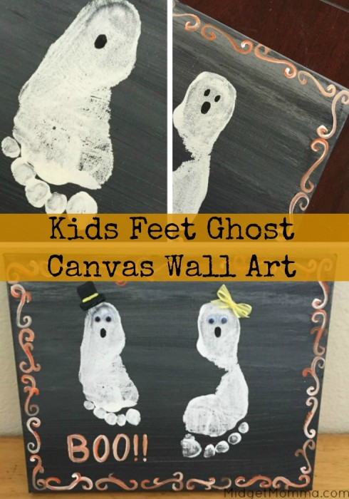 Easy Ghost Canvas Painting